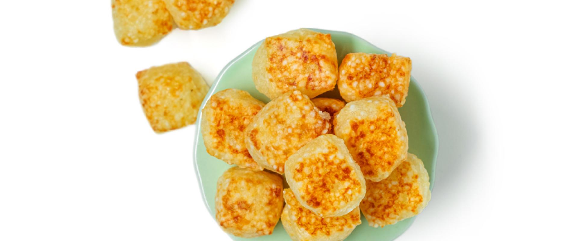 Cubos de tapioca Lanches Keep Light para Orgânico Gourmet